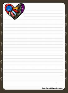 love letter pad stationery with colorful heart With letter stationary