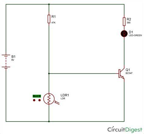 Simple Keyhole Lighting Device Circuit Diagram
