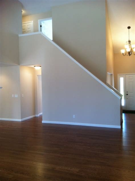 home interior railings staircase spindle vs halfwall