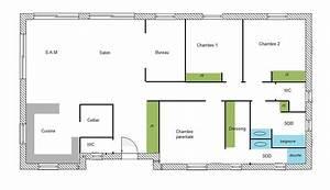plan maison bois 100m2 32 messages With plan de maison rectangulaire