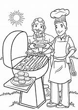 Coloring Summer Pages Printable Colouring Bestcoloringpagesforkids Cookout Enjoy Articulo sketch template