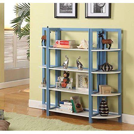 Light Blue Bookcase by K B Furniture Bookcase Light Blue White Finish