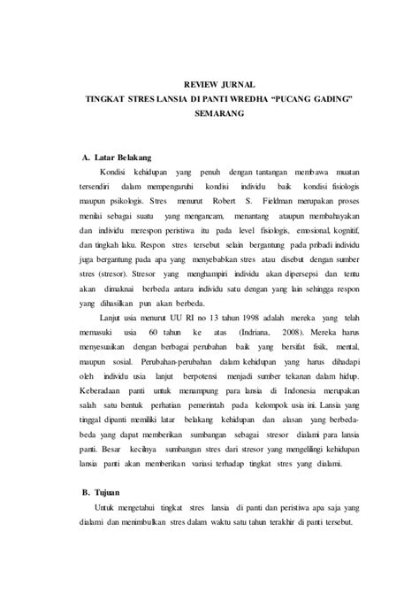 Review jurnal psikologi lanjut usia