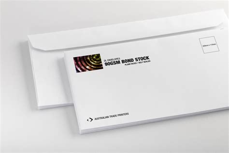 dlx envelope printing dlx size australian trade printers
