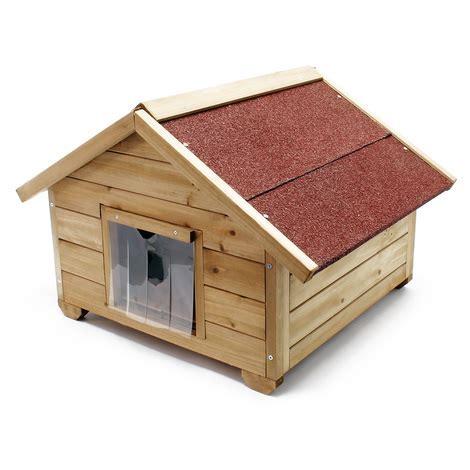 niche chat avec isolation maisonnette d ext 233 rieur chat robuste bois chat 51481 jardin