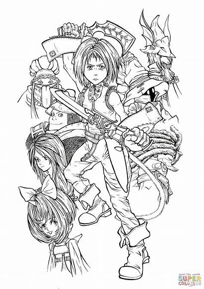 Coloring Fantasy Final Pages Characters Printable Ix