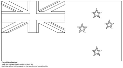 flag   zealand coloring page  printable