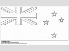 Flag of New Zealand coloring page Free Printable