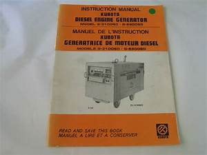Kubota Diesel Engine Generator Instruction Manual