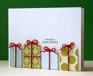 Handmade Christmas Card Idea – Happy Holidays