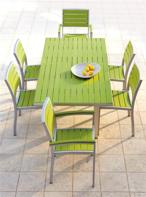 Plastic Patio Furniture by Polywood 174 Rectangle Dining Table Recycled Plastic