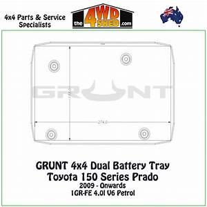 150 Series Prado 4 0l Petrol - Dual Battery Tray
