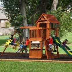 adventure play sets atlantis cedar wooden swing set