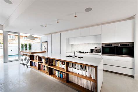 kitchen island with shelves kitchen island with bookshelves is an absoulte showstopper in contemporary perth home decoist