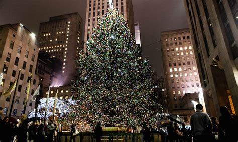 christmas tree at rockefeller center tree lighting ceremony