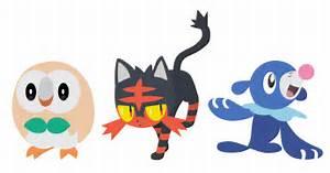 Pokemon Sun and Moon Starters Vector Art