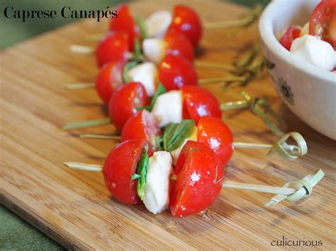 canap but caprese canapé recipe culicurious