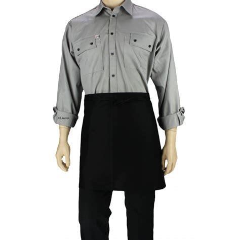 tablier de cuisine noir tablier de cuisine à la taille noir avec une poche lisavet
