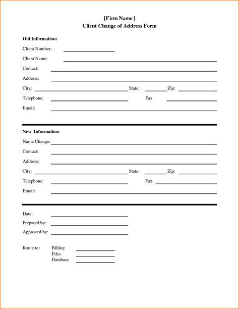 change of address form sle change of address form template teacheng us