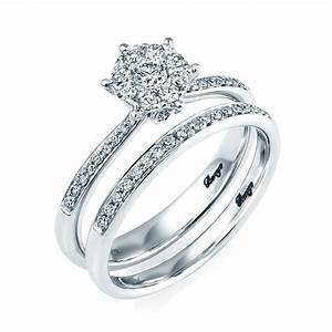 berry39s 18ct white gold diamond bridal set engagement and With white gold engagement and wedding ring sets