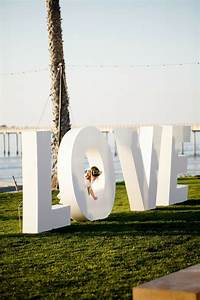 love marry With large yard letters