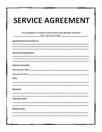 Service Agreement Contract Template Templates Services General