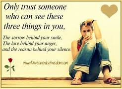 Only trust someone who...