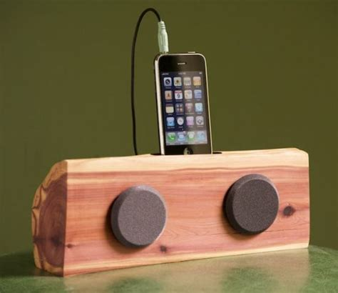 wooden iphone station handmade wooden iphone ipod station with speakers