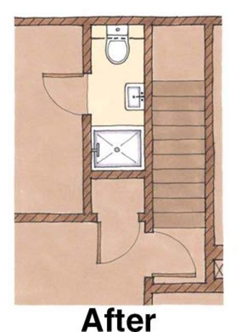 fitting  shower   small bath floorplan fine homebuilding