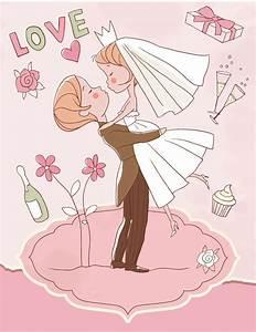 Cute Wedding illustrator vector material cute,wedding ...