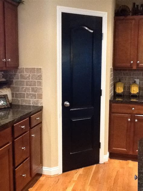 black pantry door    painting  pantry door