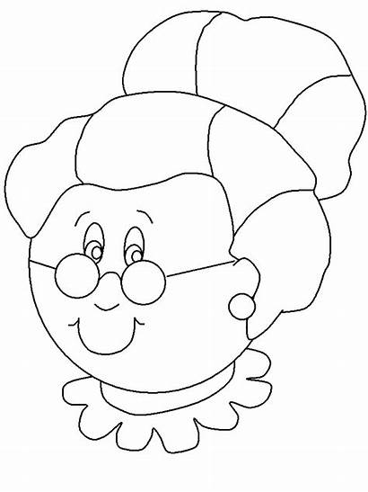 Coloring Pages Christmas Claus Mrs Clipart Template