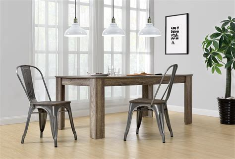 fusion metal dining chair  wood seat dhp furniture