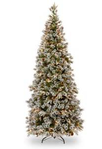 7ft pre lit liberty pine slim decorated feel real artificial christmas tree hayes garden world
