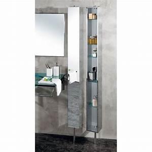 Meuble De Salle De Bain Avec Miroir : armoire de salle de bain inox tournante avec miroir cristina ondyna pk51506 vita habitat ~ Nature-et-papiers.com Idées de Décoration