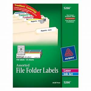 avery file folder labels in assorted colors for laser and With colored file folder labels