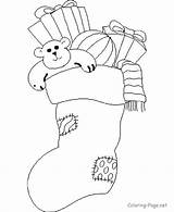 Coloring Stocking Gifts Woodworking sketch template