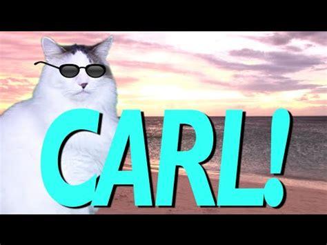 happy birthday carl epic cat happy birthday song youtube