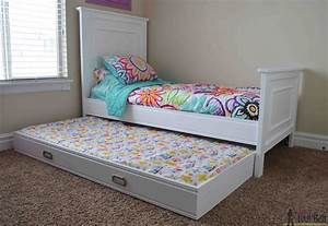 Simple Twin Bed Trundle - Her Tool Belt