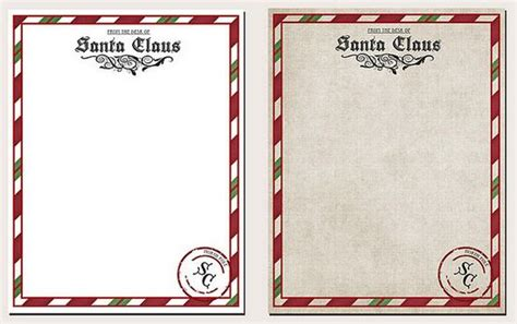 related of santa claus letter template