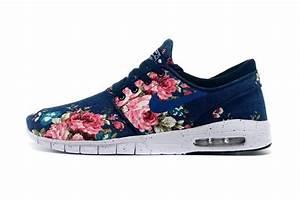 Nike SB Stefan Janoski Max Womens Shoes Flower Deep Blue ...