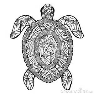 Vector Stylized Turtle Zentangle