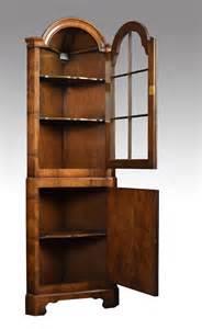 Walnut Floor Standing Corner Cabinet  Antiques Atlas