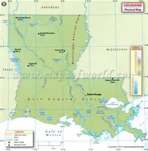 Louisiana Physical Map