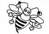 Bee Coloring Pages Honey Baby Female Coloringsky sketch template