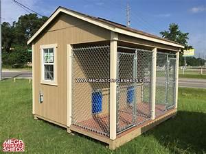 dog kennel mega storage sheds With outdoor dog kennel shed