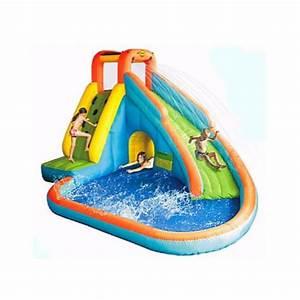 7798376b438a11 aire de jeux gonflable aquatique avec canon happy hop pas cher prix auchan