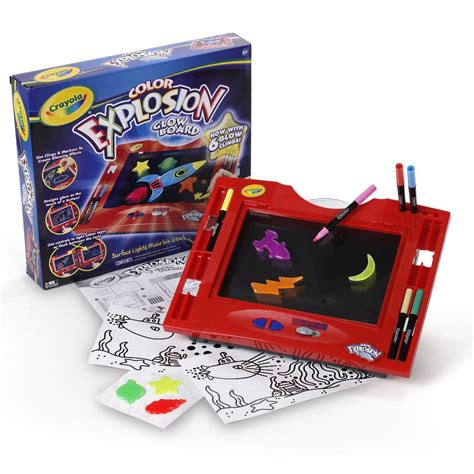 crayola light up board new crayola color explosion glow light up magic drawing