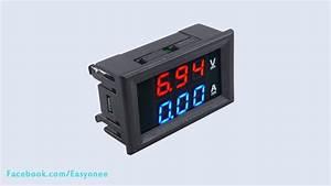 Dc 100v 10a Voltmeter Ammeter Blue   Red Led Digital Volt