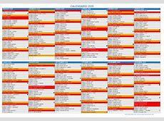 Calendario 2020 da stampare Con festivita', santi e fasi